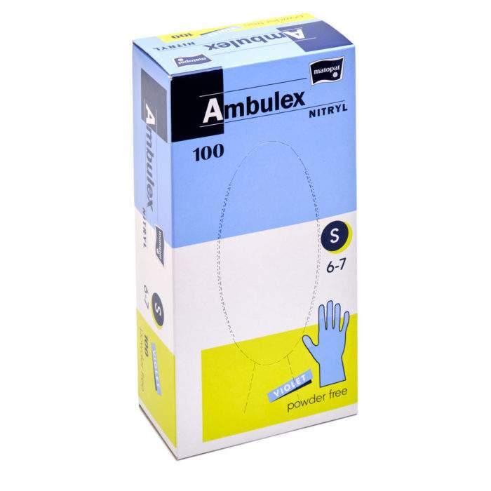 nitrilové nepudrované chirurgické rukavice AMBULEX